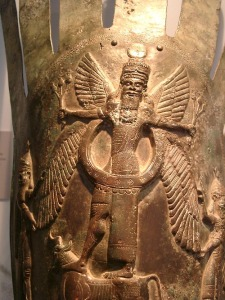 Anu, el dios padre de los sumerios. Dios de dioses y señor del universo celestial.