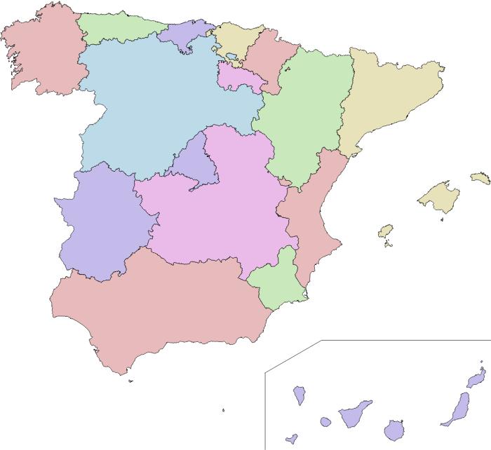 Mapa de Canarias en Meditárraneo
