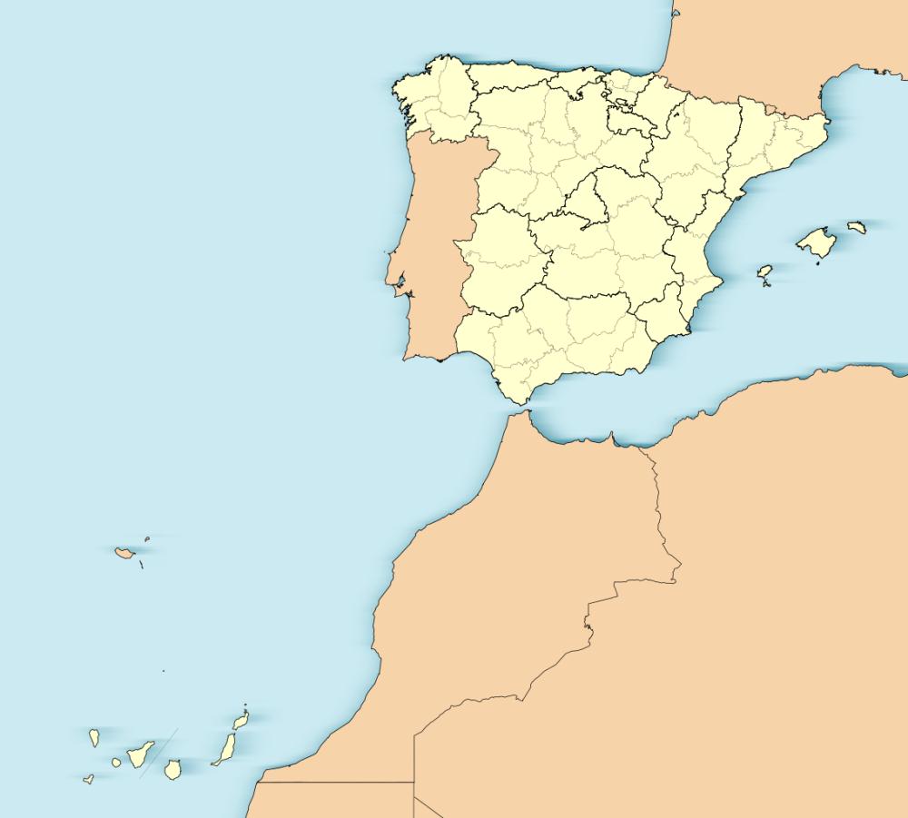 Mapa real Islas Canarias