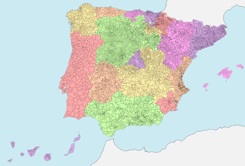 Mapa Canarias Atlantico